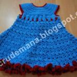 rochita albastra crosetata