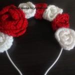 Coronita cu trandafiri aplicati