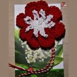 Floare crosetata – martisor sau simplu accesoriu
