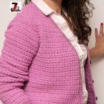 Jacheta crosetata -raglan trapez cu anchior