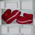 Botosei crosetati cu bareta, pentru bebeluse cochete