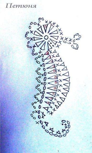 Вязание крючком морские элементы 70