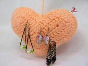inimioara crosetata - suport pentru cercei