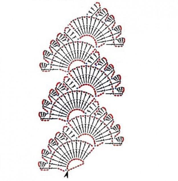 martisoare crosetate cu diagrama - bratara 5 1280 1300