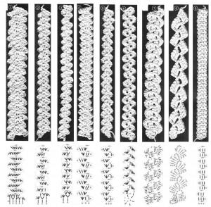 martisoare crosetate cu diagrama - bratara1