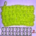 """Modelul PUFF aliniat sau """"puff stitch"""""""