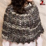 Poncho crosetat – un model in stil clopot