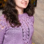 Bluza crosetata cu model frunzulite