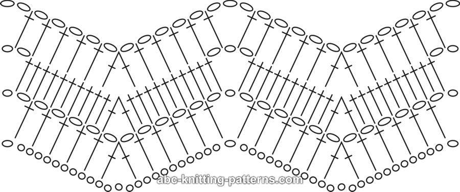Вязание крючком пуфы зигзаг схемы 75